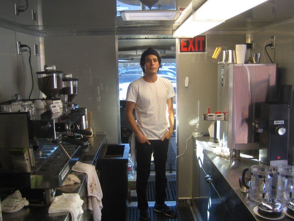 Reveille coffee truck Interior