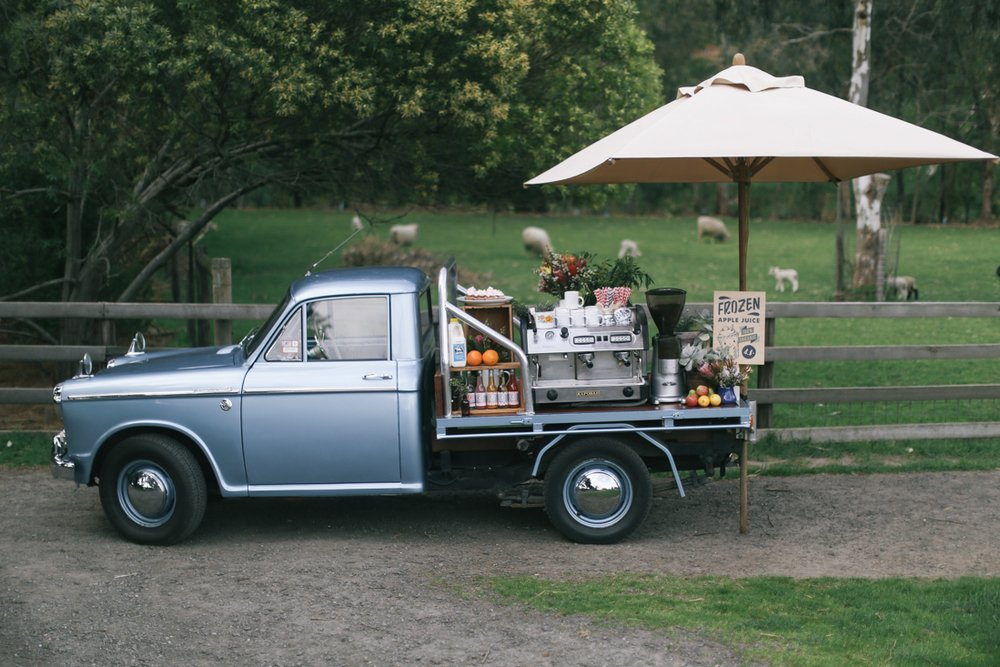 Vintage Ute Coffee Cart-