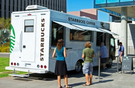 starbucks coffee truck
