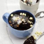 Chocolate microwave mug cake is both fluffy and gooey